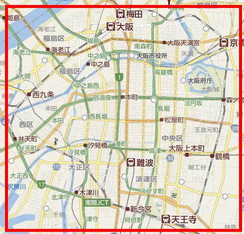 大阪環状線の面積